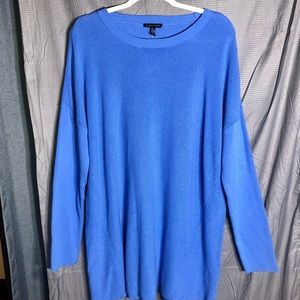 Eileen Fisher: Organic Cotton Silk Tunic Sweater